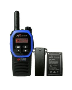 Portable - Advantage AWR-4000 UHF 450-470 MHz, 2-Watt, 16-Channel, With Battery and Belt Clip-Blue