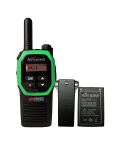 Portable - Advantage AWR-4000 UHF 450-470 MHz, 2-Watt, 16-Channel, With Battery and Belt Clip-Green
