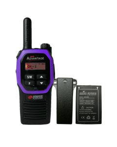 Portable - Advantage AWR-4000 UHF 450-470 MHz, 2-Watt, 16-Channel, With Battery and Belt Clip-Purple