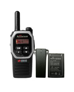 Portable - Advantage AWR-4000 UHF 450-470 MHz, 2-Watt, 16-Channel, With Battery and Belt Clip-Silver