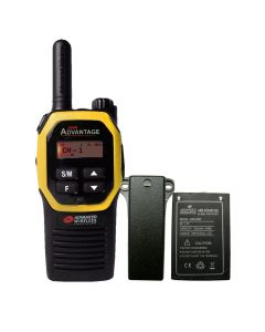 Portable - Advantage AWR-4000 UHF 450-470 MHz, 2-Watt, 16-Channel, With Battery and Belt Clip-Yellow