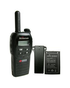 Portable - Advantage AWR-4000 UHF 450-470 MHz, 2-Watt, 16-Channel, With Battery and Belt Clip-Black