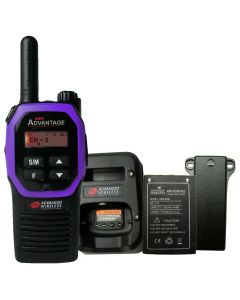Portable - Advantage AWR-4000 UHF 450-470 MHz, 2-Watt, 16-Channel, With Battery, Belt Clip, and Charger-Purple