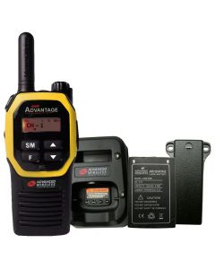 Portable - Advantage AWR-4000 UHF 450-470 MHz, 2-Watt, 16-Channel, With Battery, Belt Clip, and Charger-Yellow