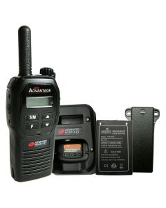 Portable - Advantage AWR-4000 UHF 450-470 MHz, 2-Watt, 16-Channel, With Battery, Belt Clip, and Charger-Black