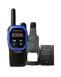 Portable - Advantage AWR-4000 UHF 450-470 MHz, 2-Watt, 16 Channel, With Battery, and Holster-Blue