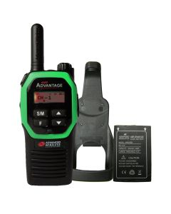 Portable - Advantage AWR-4000 UHF 450-470 MHz, 2-Watt, 16 Channel, With Battery, and Holster-Green