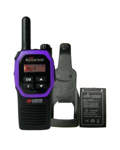 Portable - Advantage AWR-4000 UHF 450-470 MHz, 2-Watt, 16 Channel, With Battery, and Holster-Purple