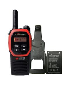Portable - Advantage AWR-4000 UHF 450-470 MHz, 2-Watt, 16 Channel, With Battery, and Holster-Red