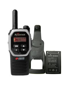 Portable - Advantage AWR-4000 UHF 450-470 MHz, 2-Watt, 16 Channel, With Battery, and Holster-Silver