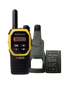 Portable - Advantage AWR-4000 UHF 450-470 MHz, 2-Watt, 16 Channel, With Battery, and Holster-Yellow