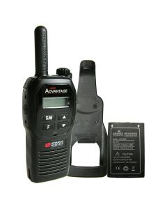 Portable - Advantage GMRS Canada UHF 450-470 MHz, 2-Watt, 16-Channel With Battery and Holster-Black