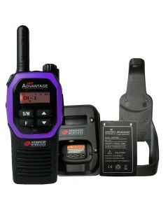 Portable - Advantage AWR-4000 UHF 450-470 MHz, 2-Watt, 16 Channel, With Battery, Charger and Holster-Purple