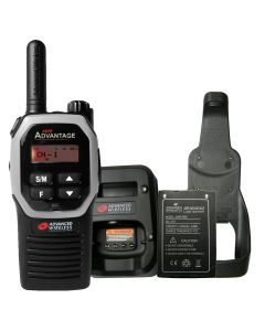 Portable - Advantage AWR-4000 UHF 450-470 MHz, 2-Watt, 16 Channel, With Battery, Charger and Holster-Silver