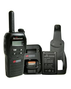 Portable - Advantage AWR-4000 UHF 450-470 MHz, 2-Watt, 16 Channel, With Battery, Charger and Holster-Black