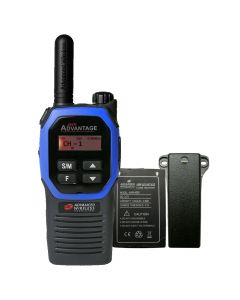Portable - Advantage AWR-4002 UHF 450-470 MHz, 2-Watt, 16 Channel, Bluetooth, Vibrate, DTMF With Battery, and Belt Clip-Blue