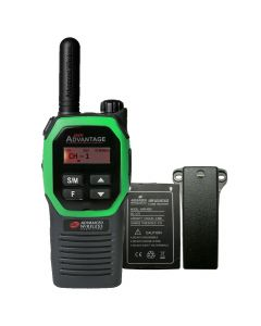 Portable - Advantage AWR-4002 UHF 450-470 MHz, 2-Watt, 16 Channel, Bluetooth, Vibrate, DTMF With Battery, and Belt Clip-Green
