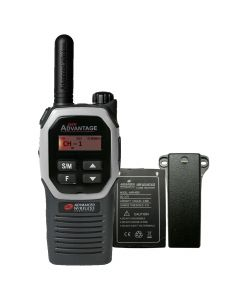 Portable - Advantage AWR-4002 UHF 450-470 MHz, 2-Watt, 16 Channel, Bluetooth, Vibrate, DTMF With Battery, and Belt Clip-Silver