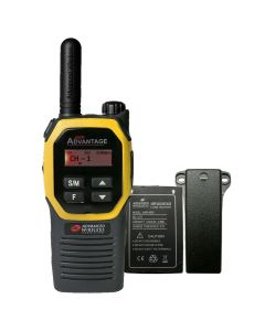Portable - Advantage AWR-4002 UHF 450-470 MHz, 2-Watt, 16 Channel, Bluetooth, Vibrate, DTMF With Battery, and Belt Clip-Yellow