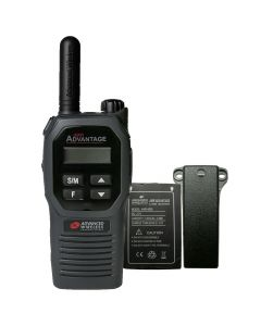Portable - Advantage AWR-4002 UHF 450-470 MHz, 2-Watt, 16 Channel, Bluetooth, Vibrate, DTMF With Battery, and Belt Clip-Black