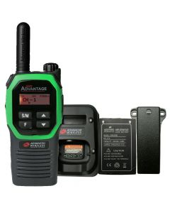 Portable - Advantage Plus AWR-4002 UHF 450-470 MHz, 2-Watt, 16-Channel, With Battery, Belt Clip, and Charger-Green