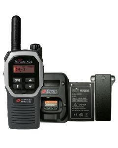 Portable - Advantage Plus AWR-4002 UHF 450-470 MHz, 2-Watt, 16-Channel, With Battery, Belt Clip, and Charger-Silver