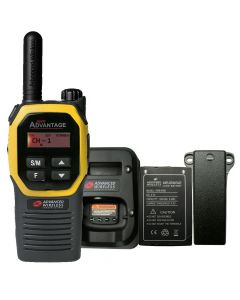 Portable - Advantage Plus AWR-4002 UHF 450-470 MHz, 2-Watt, 16-Channel, With Battery, Belt Clip, and Charger-Yellow