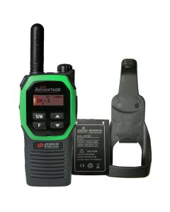Portable - Advantage Plus AWR-4002 UHF 450-470 MHz, 2-Watt, 16 Channel, Bluetooth, Vibrate, DTMF With Battery, and Holster-Green
