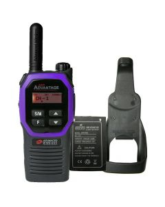 Portable - Advantage Plus AWR-4002 UHF 450-470 MHz, 2-Watt, 16 Channel, Bluetooth, Vibrate, DTMF With Battery, and Holster-Purple