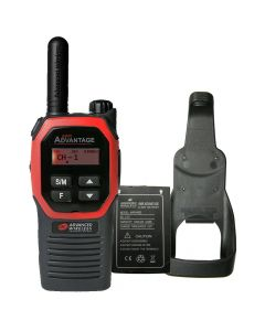Portable - Advantage Plus AWR-4002 UHF 450-470 MHz, 2-Watt, 16 Channel, Bluetooth, Vibrate, DTMF With Battery, and Holster-Red