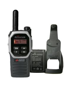 Portable - Advantage Plus AWR-4002 UHF 450-470 MHz, 2-Watt, 16 Channel, Bluetooth, Vibrate, DTMF With Battery, and Holster-Silver