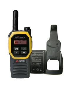 Portable - Advantage Plus AWR-4002 UHF 450-470 MHz, 2-Watt, 16 Channel, Bluetooth, Vibrate, DTMF With Battery, and Holster-Yellow