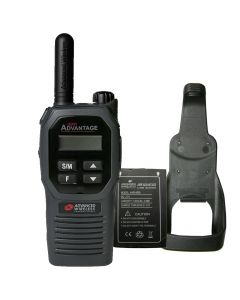 Portable - Advantage Plus AWR-4002 UHF 450-470 MHz, 2-Watt, 16 Channel, Bluetooth, Vibrate, DTMF With Battery, and Holster