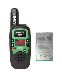 Portable - AWR-MINI4 Analog UHF 450-470 MHz, 1-Watt, 16-Channel With Battery-Green