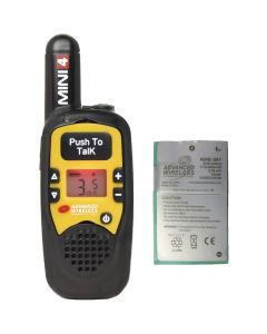 Portable - AWR-MINI4 Analog UHF 450-470 MHz, 1-Watt, 16-Channel With Battery-Yellow
