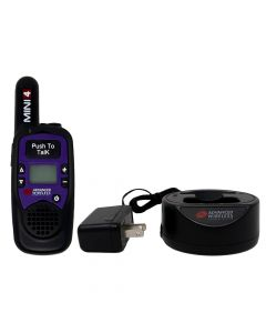 Portable - AWR-MINI4 Analog UHF 450-470 MHz, 1-Watt, 16-Channel With Battery and Charger-Purple