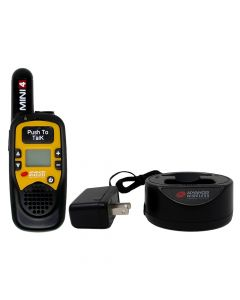 Portable - AWR-MINI4 Analog UHF 450-470 MHz, 1-Watt, 16-Channel With Battery and Charger-Yellow