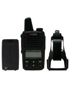 Portable - AWR-D6000 Digital/Analog UHF 450-480 MHz, 2-Watt, 4000-Channels With Battery and Swivel Holster