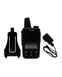 Portable - AWR-D6000 Digital/Analog UHF 400-480 MHz, 2-Watt, 4000-Channel With Battery, Cord Charger and Swivel Holster
