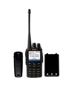 Portable - AWR-D6500 Digital/Analog UHF 400-480 MHz, 5-Watt, 4000-Channels With Antenna, Battery and Belt Clip