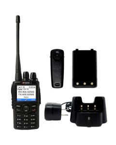 Portable - AWR-D6500 Digital/Analog UHF 400-480 MHz, 5-Watt, 4000-Channels With Antenna, Battery, Belt Clip and Charger