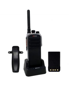 Portable - AWR-D7000 Digital/Analog UHF 400-470 MHz, 4-Watt, 32-Channel With Antenna, Battery, Belt Clip  and Charger