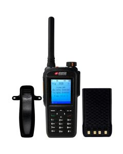 Portable - AWR-D7500 Digital/Analog UHF 400-470 MHz, 4-Watt, 1600 Channel With Antenna, Battery and Belt Clip