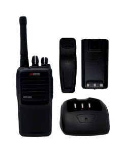 Portable - AWR-8000 UHF 450-470 MHz, 4-Watt, 16-Channel With Antenna, Battery, Belt Clip and Charger