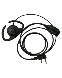 Headset - Flexible Ear Loop With PTT Connector Style K1