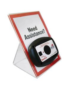Stand - Large Acrylic with Signage for Mini Call Box