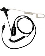 Headset - Surveillance With Long Acoustic Tube & Two-Wire PTT Connector Style M10